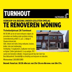Vier te renoveren woningen te koop in Turnhout
